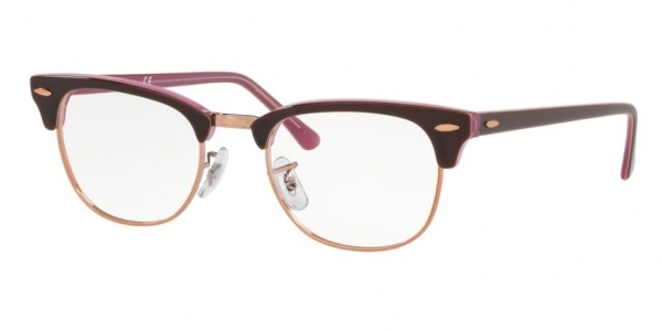 RAY-BAN RX5154 CLUBMASTER TOP BROWN ON OPAL PINK