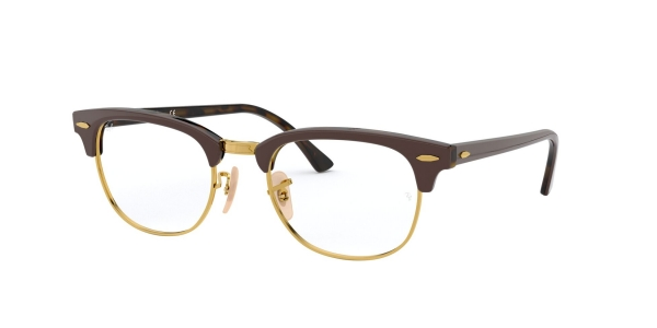 RAY-BAN RX5154 CLUBMASTER TOP BROWN ON HAVANA YELLOW