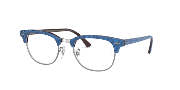 RAY-BAN RX5154 CLUBMASTER TOP WRINKLED BLUE ON BROWN