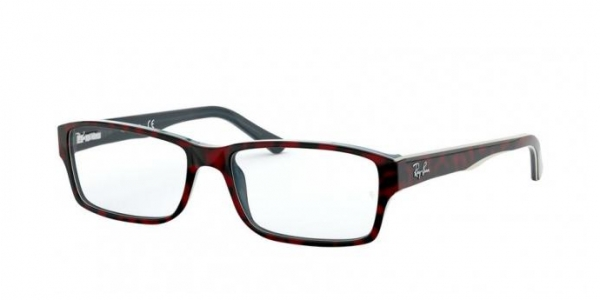 RAY-BAN RX5169 TOP RED HAVANA ON OPAL BLUE