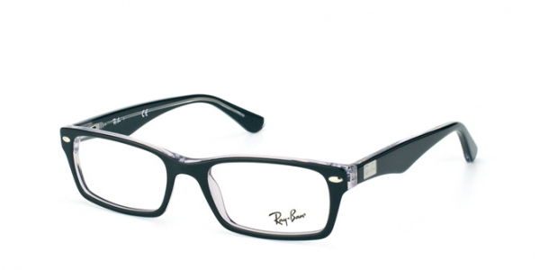 RAY-BAN RX5206 TOP BLACK ON TRANSPARENT