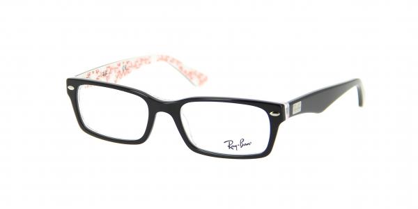 RAY-BAN RX5206 TOP BLACK ON TEXTURE W