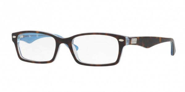 RAY-BAN RX5206 TOP HAVANA ON TR AZURE