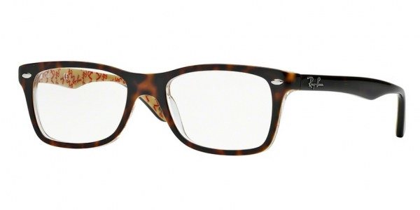 RAY-BAN RX5228 TOP DARK HAVANA ON BEI