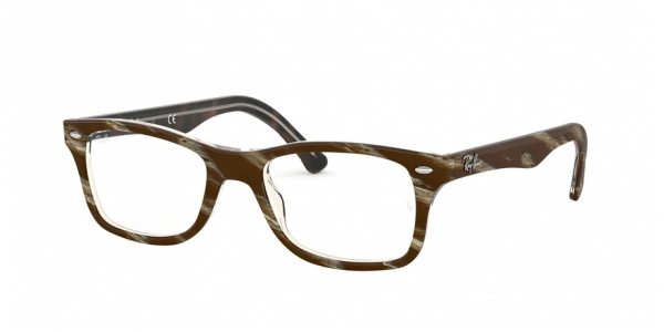 RAY-BAN RX5228 TOP BROWN/RED/YELLOW