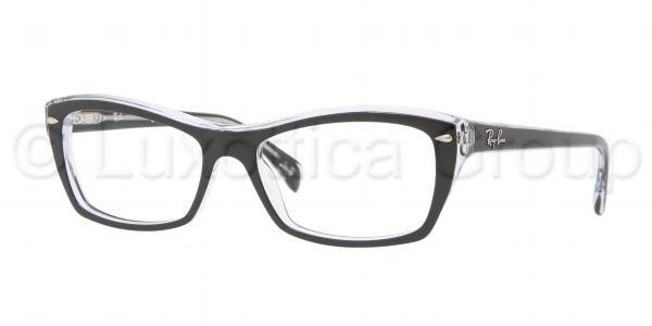 RAY-BAN RX5255 TOP BLACK ON TRANSPARE