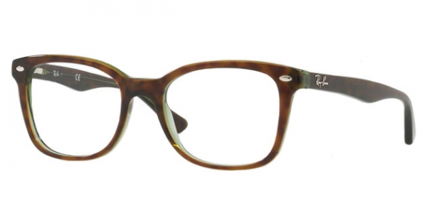RAY-BAN RX5285 TOP HAVANA ON GREEN TRANSP.