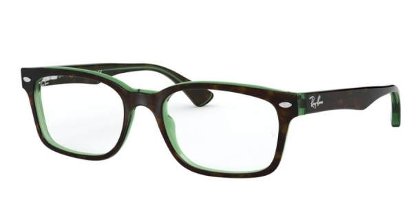 RAY-BAN RX5286 TOP HAVANA ON GREEN TRANSP.
