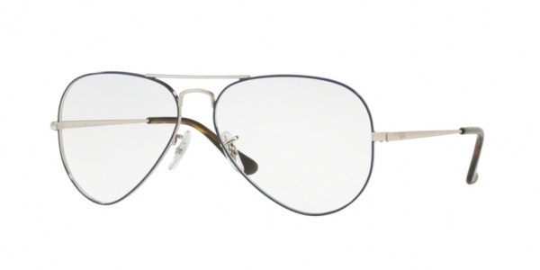 outlet e081f 457f9 Ray-Ban AVIATOR RX6489 SILVER ON TOP BLUE 2970