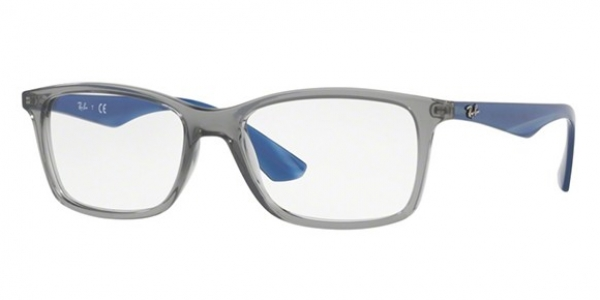 RAY-BAN RX7047 TRASPARENT GREY