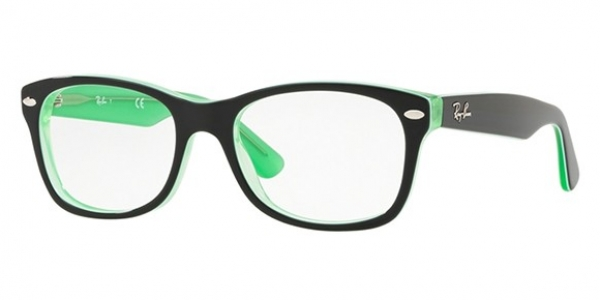 RAY-BAN JUNIOR RY1528 GREEN TRASP ON TOP BLACK