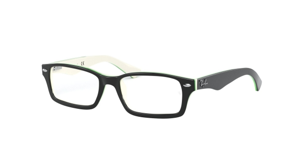 RAY-BAN JUNIOR RY1530 TOP BLACK ON WHITE/GREEN