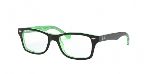 RAY-BAN JUNIOR RY1531 GREEN TRASPARENT ON TOP BLACK