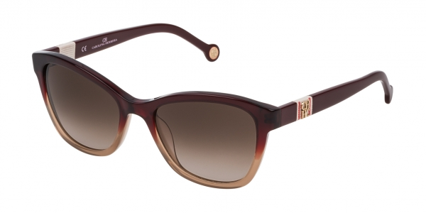 CAROLINA HERRERA SHE698 GARNET / BROWN GRADIENT