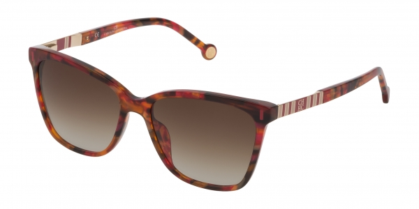 CAROLINA HERRERA SHE828 RED HAVANA / BROWN GRADIENT