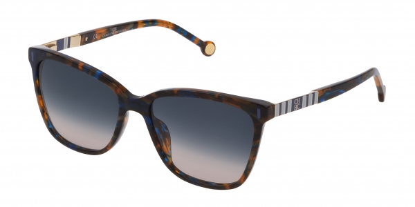 CAROLINA HERRERA SHE828 BLUE / HAVANA