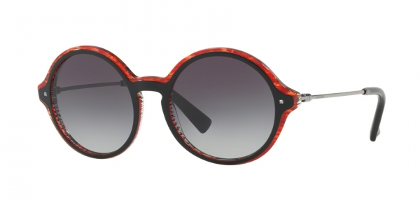 VALENTINO VA4015 GLAMGLOSS TOP BLACK ON LINES RED