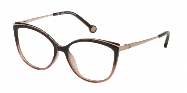 CAROLINA HERRERA VHE783 BROWN+OPALINE PINK
